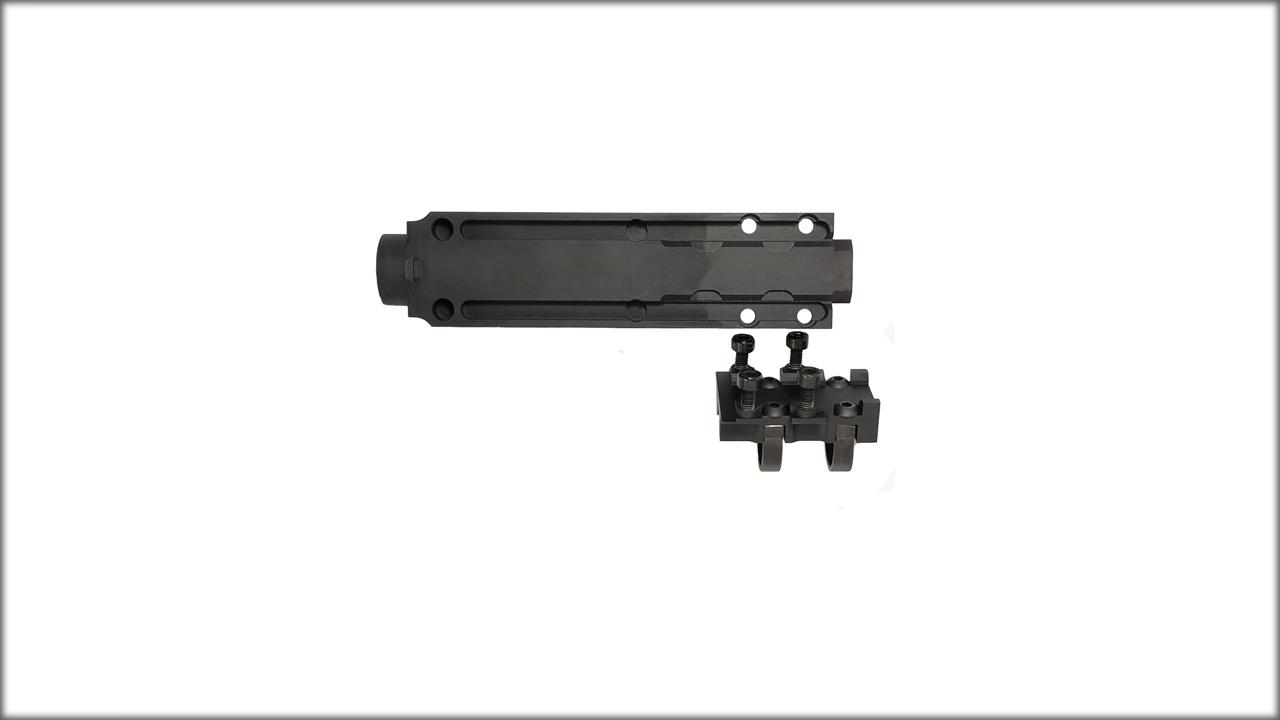 Тюнинг для АК и САЙГА. Газовая камера в сборе с планкой пикатини АСПАК 74.023.00 для Бизон 2, Витязь-СН, Сайга 9